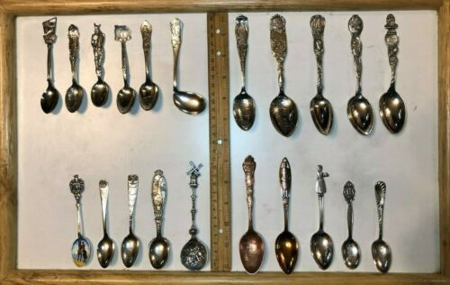 LOT OF 34 SILVERPLATE SOUVENIR SPOON COLLECTION