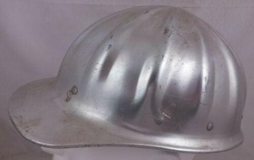 Aluminum Hard Hat Superlite FibreMetal vintage metal old USA Suspension full cap