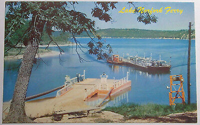 1960'S PHOTO POSTCARD OF THE LAKE NORFOLK FERRY OPERATED IN NORTHERN ARKANSAS