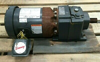 Emerson Browning 12 Hp Unimount Motor 1745 Rpm Synchrogear Drive 18 Ratio