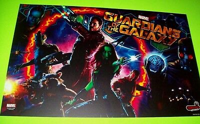 Marvel GUARDIANS OF THE GALAXY ORIGINAL NOS Pinball Machine Translite Artwork