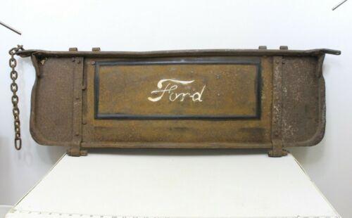 Antique 1925-28 Embossed Ford Emblem Model T Tailgate Metal Steel Truck Part