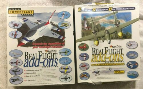 Lot of 2 Great Planes Real Flight Add-Ons Volume 2 & Volume 3-New Sealed in Box