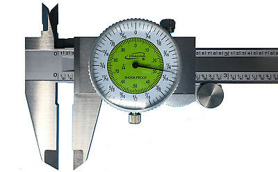 Igaging Fractional Dial Caliper 6 Inside Outside Depth Gauge Read 0.01 Or 164