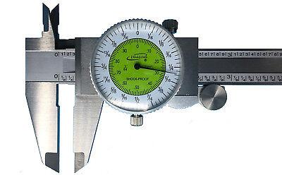 Igaging Fractional Dial Caliper 6 Inside Outside Depth Gauge Read 0.01 Or 164