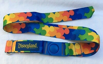 Disney Parks Disneyland Mickey Mouse Lanyard Rainbow Mickey Icons Gay Pride NWT