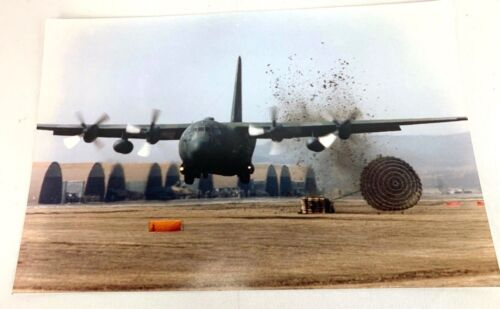 US Air Force C-130 Hercules Dropping Payload Large Photo Print