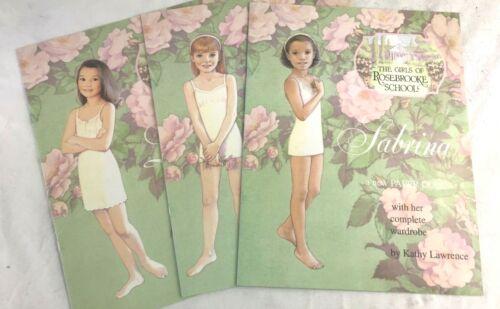 Lot of 3 The Girls Of Rose Brooke School Paper Dolls