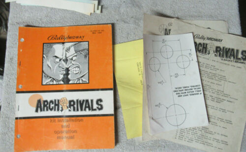 ARCH RIVALS kit midway  video game  MANUAL