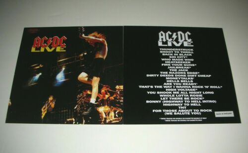 AC/DC Live 2 Sided Promo 12x12 Poster Flat 1992 Mint-
