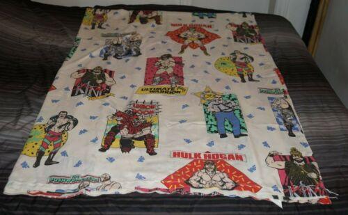 WWF Twin Size Bed Flat Sheet 1991 Titan Sports