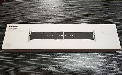 Original Apple Watch Band Noteworthy Buckle Black 38mm (1st version) in sealed box