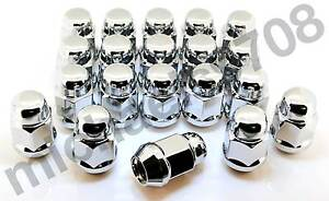 16x-Chrome-Wheel-Nuts-suit-Ford-Focus-Fiesta-Mondeo-Cortina-KA