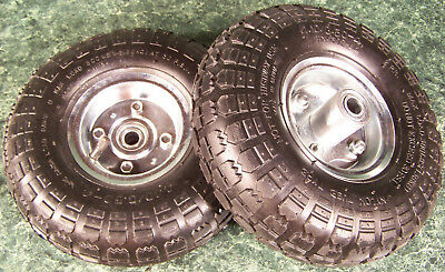 2pc 10 Inch Air Inflatable Rubber Wheels With Rim Dolly Tire Wheel 58 Hub New