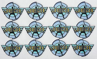 Lot of 12 JEDI Logo Star Wars Fabric Patch Light Saber Blue  NEW