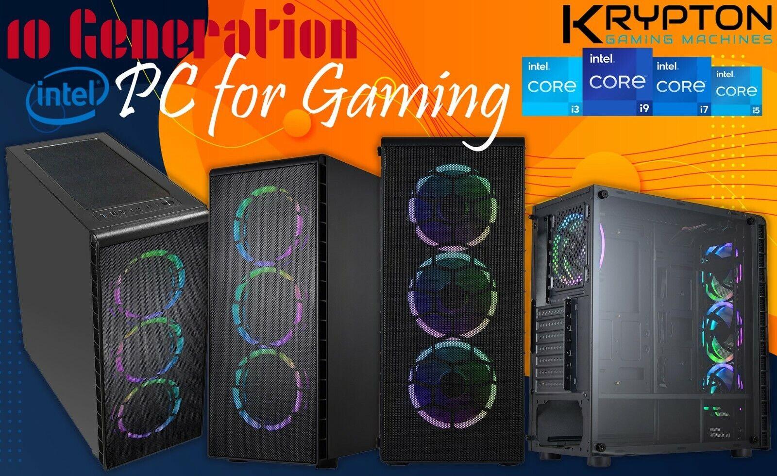Computer Games - Gaming PC Computer Intel i7 11700 2TB HDD 480GB SSD 32GB RAM 6GB GTX1660-Air