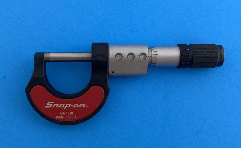 """VINTAGE"" Snap-on Mechanical  MICROMETER (1 inch) Model GA 1000 Made in U.S.A."