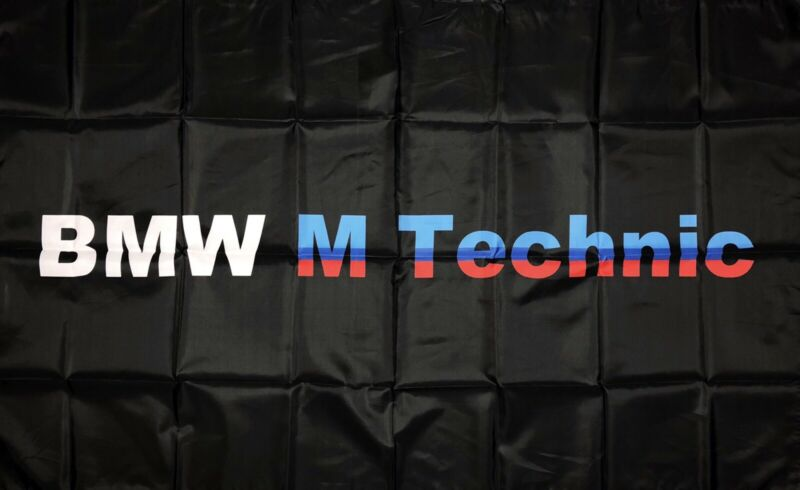 BMW M Technic Series Logo Car Flag 3x5 ft Racing Banner M3 M4 M5 M6 M-Power
