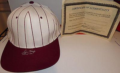 "Lou Groza ""The Toe"" Autograph Hat Signed Baseball Cap Hall of Fame HOF AUTO COA"