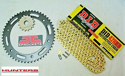 <em>YAMAHA</em> WR125 X 2009 TO 2016 DID GOLD HEAVY DUTY CHAIN AND JT SPROCKET