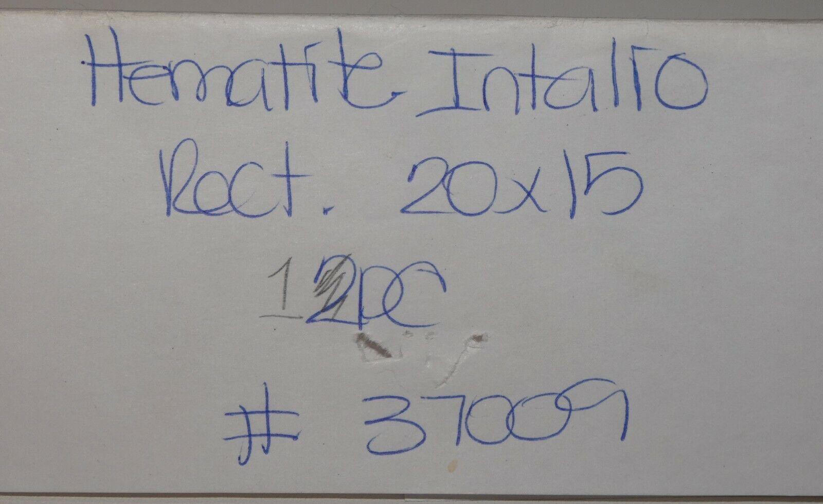 Carved Hematite Soldier Intaglio 20x15mm - $13.99
