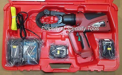 Burndy Pat46lwli Hydraulic Battery 15 Ton Crimper Cordless Crimping Tool Pat46