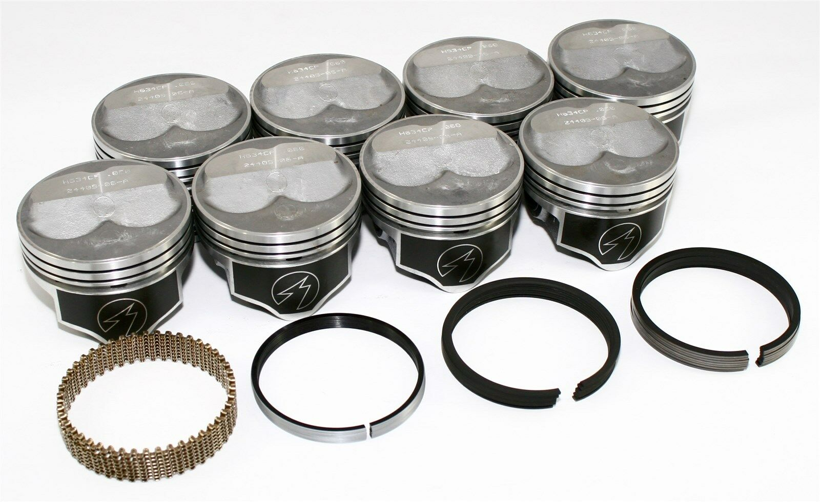 "Sealed Power Ford 289 302 4.030/"" Flat Top Pistons /& Moly Rings Kit SBF H273CP30"