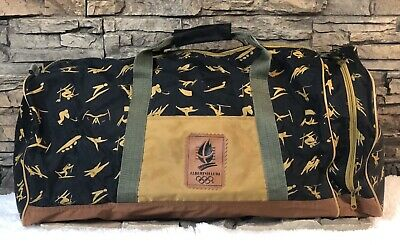 Vtg Albertville 1992 Olympic Winter Games Travel Large Duffel Bag RARE!