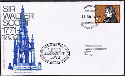 Sir Walter Scott 1771-1832 Commemorative Cover 15 Aug 1971 - SG886