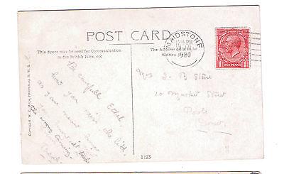 Maidstone 1920 Postmark  Postcard W E Mack Comic Cute Girl Mouse - Mrs J B Stone