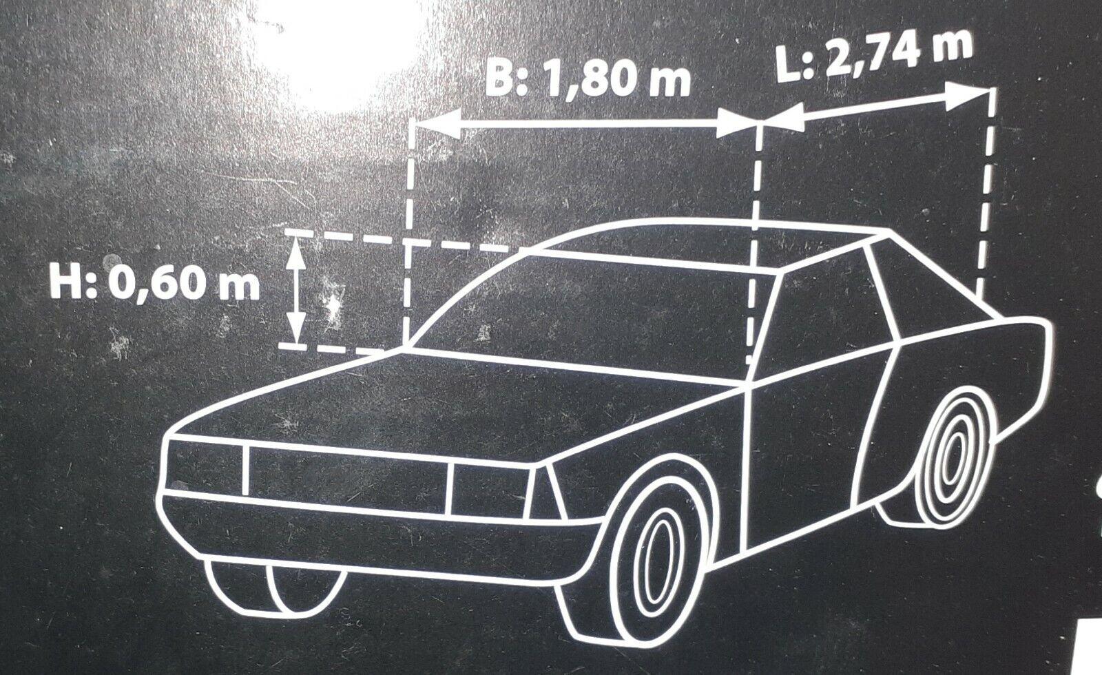 Halbgarage Auto KfZ LXL 100 wasserfest BMW,Mercedes, FORD,VW, Opel (Liste)NEU