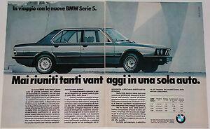 Advert-Pubblicita-Auto-1981-BMW-518-520i-525i-528i-SERIE-5-E28