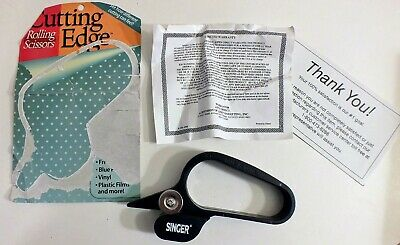 Singer Cutting Edge Rolling Scissors Cuts GIFT WRAP VINYL WALLPAPER, Etc Plastic