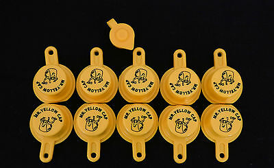 10x Blitz Yellow Spout Caps For Gas Can Spouts 900302 900092 900094 - Free Vent