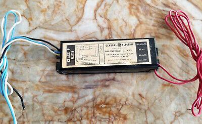Ge Rapid Start Ballast 8g1075 Class P 120v 60hz 0.63a Read Description