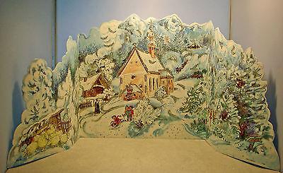 Winterwald Adventskalender zum Aufstellen mit Silberglimmer konturgestanzt 11584