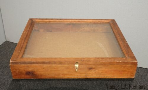 Vintage French Country Table Top Display Case Farmhouse Chic