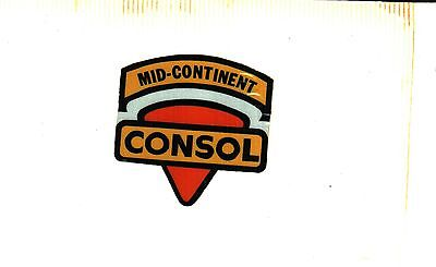 Nice Mid Continent Shield Consol Coal Co  Coal Mining Sticker   953
