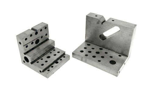 """ANGLE BLOCKS (2) Machinist Tool Die Maker Fxtr 4""""x3""""x2-5/8""""  2-5/8x2-5/8""""x2-3/4"""""""