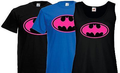 Batgirl Logo (BATGIRL pink Retro super hero BATMAN style logo action T)