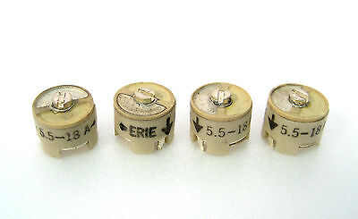 Miniature Trimmer Capacitors 5.5-18pf Pcb Mount 38 Dia. 4lot Great Value