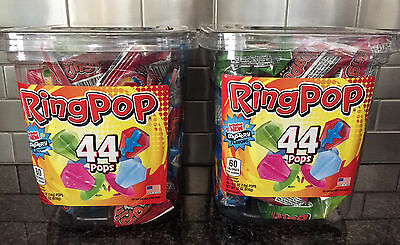 Ring Pop Candy Jar, Assorted Flavors (44 ct. Each Container) - Ring Pop Flavors