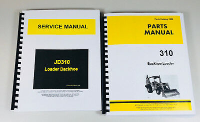 Service Parts Manual Set For John Deere 310 Tractor Loader Backhoe Technical