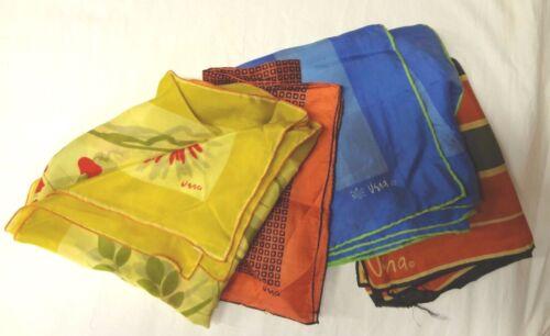 Lot Of 4 Vintage Vera Neumann Scarves~Various Sizes