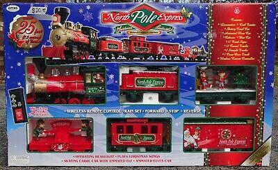 EzTec NORTH POLE EXPRESS Animated Christmas Railroad Train Set, 45 Pcs, G-Gauge