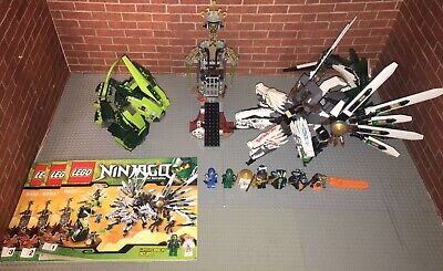 Lego 9450 Ninjago Epic Dragon Battle Complete Set With Minifigures Manuals