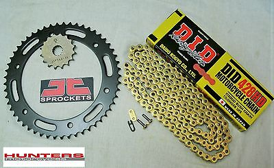 Yamaha DT125R DID Gold Heavy Duty Chain & JT Sprocket Kit Set (1990 to 2003)