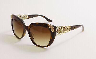 Bvlgari Sonnenbrille 8162 B 504/13 Neu NP 280,- Kaufbeleg DarkHavanna Sunglasses