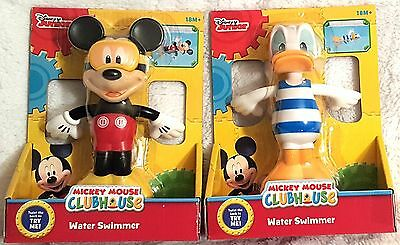 Disney Junior Mickey Mouse Clubhouse Water Swimmer  Donald And Mickey Set