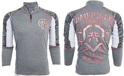 American Fighter Affliction Men Zip Jacket Shirt Close Encounter Gym Mma Ufc  60
